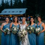 wedding bridal party photography mountain ranch