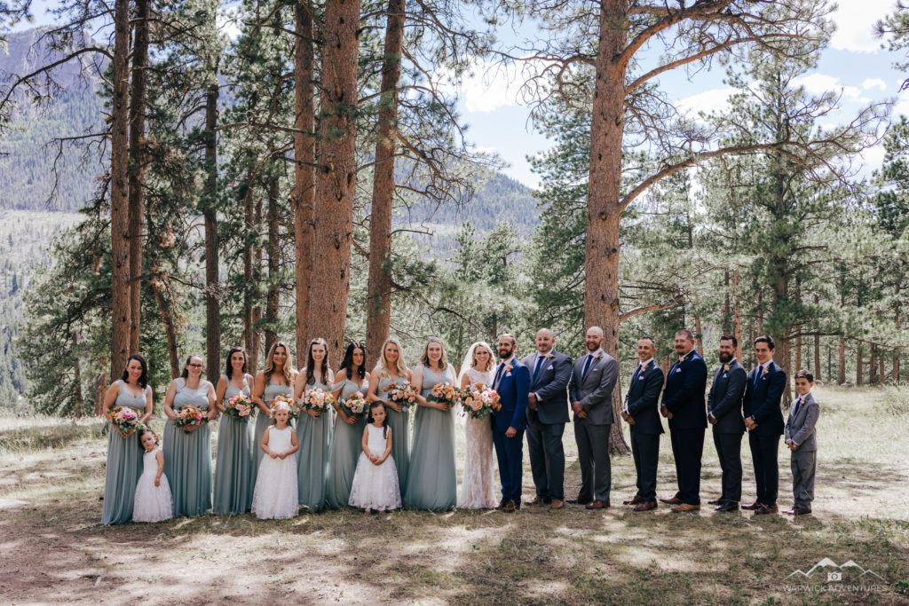 Wedding Party portrait estes park della terra